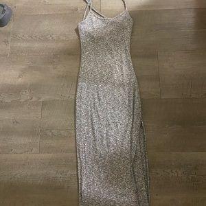 naked wardrobe criss cross midi dress size small